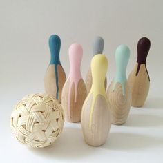 Wooden Bowlingset*Multi - mon cifaka online store - 岡山市の雑貨・家具などのセレクトショップ