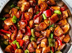 Kung Pao Chicken is a highly addictive stir-fried chicken with the perfect combination of salty, sweet and spicy flavour! Make Kung Pao Chicken better than Chinese take out right at home! With crisp-tender, mouthwatering chicken pieces Asian Recipes, Healthy Recipes, Ethnic Recipes, Delicious Recipes, One Pot Meals, Easy Meals, Cafe Delites, Fried Chicken, Kung Poa Chicken Recipe