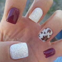 Design For Autumn Nails 2018 Autumn nail designs are absolutely what you accept been attractive for, haven't you? Autumn Nails, Fall Acrylic Nails, Winter Nail Art, Winter Nails, Fall Nail Art Autumn, Winter Art, Winter Colors, Spring Nails, Summer Nails
