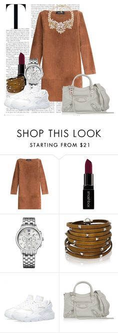 """Street Casual"" by agnes-adellina on Polyvore featuring Vanessa Seward, Smashbox, Tommy Hilfiger, Sif Jakobs Jewellery, NIKE, Balenciaga and Carolee"
