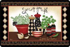 Kay Dee Designs Memory Foam Comfort Kitchen Mat, 20 by 30-Inch, Spice Up Your Life Kay Dee http://www.amazon.com/dp/B00GOMIYYM/ref=cm_sw_r_pi_dp_000Hub060SEV7