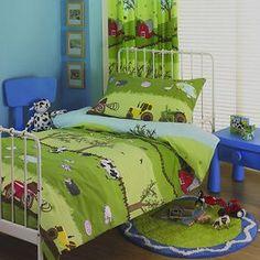 FARM YARD BOYS TRACTOR DUVET SET OR CURTAINS ~ CHILDREN'S BEDROOM INTERIORS   eBay