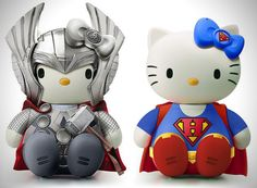 Hello Kitty Pop Culture Characters Artist Joseph Senior has decided to pay tribute to the Japanese kitty with a series that transforms the ever popular cat into tons of different pop culture characters from film, music and more.several superheroes from The Avengers, Batman,