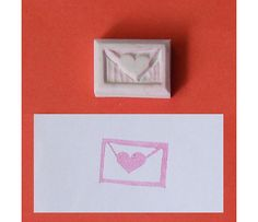 Love letter Hand Carved Rubber Stamp - Heart handcarved rubber stamp, wedding hand carved stamp, handmade stamp, handcarved stamp. $5.00, via Etsy.
