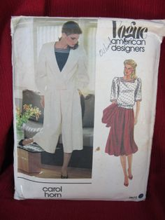 Vogue 2675 culotte ensemble Mark my words this fashion is going to make a come back! They always do.  $4.50 at FashionSew an Etsy shop.