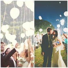 White LED Balloons that Glow. Wedding Send off Light by dippledot