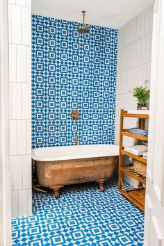 Bathroom Gut Renovation with Geometric Tile | Apartment Therapy