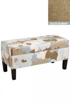 Classic storage bench - get in velvet pool or velvet carribean
