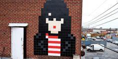 Joey Ramone par Invader à New-York