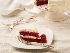 Red velvet cake recipe (#LC14080): A classic layered red cake with white cream cheese frosting, an all time favourite.