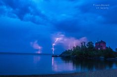 Lightning storm at the Marquette Harbor Lighthouse...9/6/15