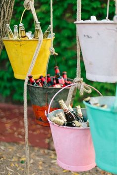 mariage maison ides top 14 must see rustic wedding ideas for 2019 rustic wedding decorations of hanging glasses with burlap spring weddings diy wedding decors on a budget garden weddings Home Wedding, Diy Wedding, Rustic Wedding, Garden Wedding, Wedding Ideas, Wedding Colors, Trendy Wedding, Ideas Para Fiestas, Fiestas Party