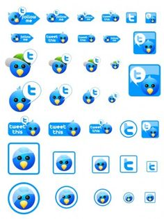 Free Twitter Icons icons pack