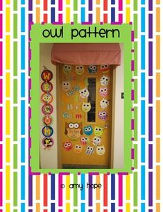 "Freeeeee!!! Owl Pattern... I'm going to do ""Look 'Whoo's' Been Spotted In This Class"" on my door!!!"