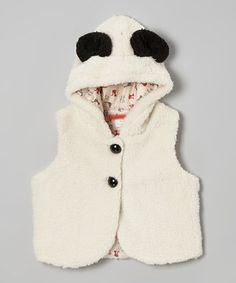 Ivory Animal Ears Hooded Vest - Toddler & Girls by Funkyberry #zulily #zulilyfinds