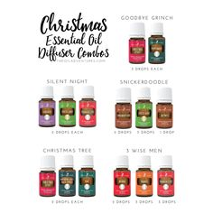 Christmas Spirit alone is all you really need in your diffuser but if you want to change things up a bit here are five diffuser combos to try out: Goodbye Grinch 4 drops of Peppermint 4 drops of Ch…