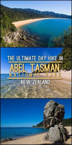The ultimate day hike in Abel Tasman National Park, New Zealand. The Abel Tasman Coastal Track takes a few days to complete but you can see a lot in just a few hours! Nz South Island, New Zealand South Island, Places To Travel, Travel Destinations, Places To Visit, Travel Tips, Travel Guides, Cook Islands, Fiji Islands