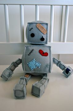 robot plushie-this is too cute!