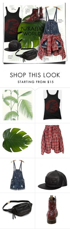 """""""Jurassic World"""" by trendsbybren ❤ liked on Polyvore featuring Cole & Son, Zara Home, R13, Kokon To Zai, Dr. Martens and jurassicworld"""