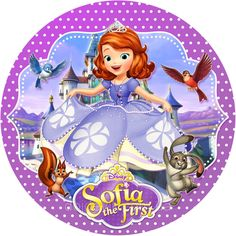 Sofia The First Birthday Cake, Princess Sofia Birthday, Princess Sofia The First, Disney Princess Party, Baby Mickey Mouse Cake, Minnie Mouse Party, Mouse Parties, Barbie Drawing, Disney Movie Characters
