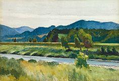 Edward Hopper (1882–1967), Rain on River, 1938.