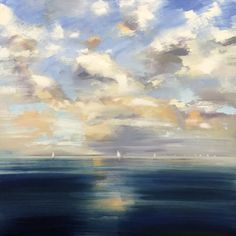 """Deep Blue"" by Craig Mooney. Oil. 30"" X 30"". Editor's Choice. *SOLD* www.maine-art.com. #maineart #ChoiceShow #art"