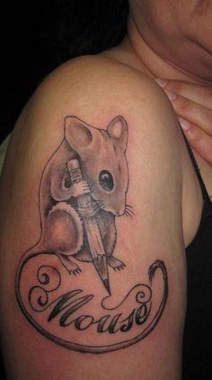 Elemental Tattoos by Joseph Gilland: Mouse's mouse tattoo Sick Tattoo, Tattoo You, Tatoo Art, Body Art Tattoos, Modest Mouse, Mouse Tattoos, Cute Mouse, Black Tattoos, Tattoo Designs