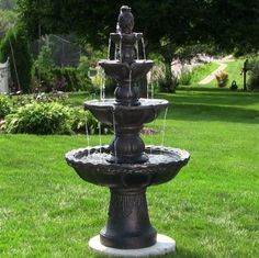 4 Tier Yard Fountain Outdoor Garden Water Electric Pump Courtyard Outside Lawn