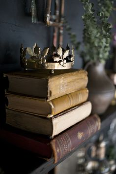 Black stained shelves and antique books and brass vases and objects at the Ulysses Room Studio and Event rental space in Washington DC Old Books, Antique Books, Vintage Books, Vintage Soul, I Love Books, Books To Read, World Of Books, Book Aesthetic, Book Nooks