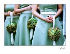 Bridesmaid pomanders with tassle