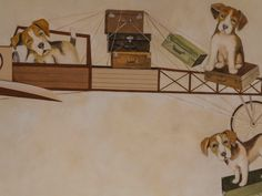 Detaliu (4) pictură perete Ceilings, Floors, Walls, Dogs, Animals, Ceiling, Wall, Home Tiles, Flats
