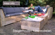 Scaffold Wood-steigerhouten lounge set garden-tuin