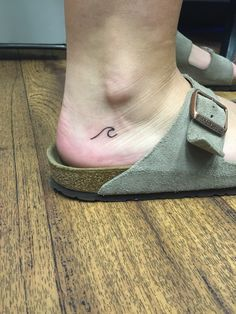 Simplicity - Small wave tattoo