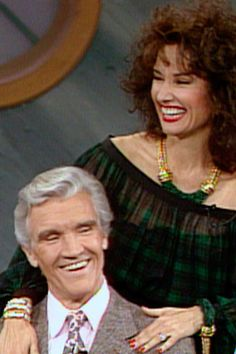 1991 -Susan Lucci, a.k.a. All My Children'sErica Kane, appears with her eight TV husbands.