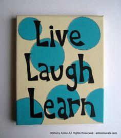 Classroom Sign Teacher Decoration Live Laugh by PromotingSuccess, $27.95