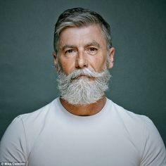 Beard Grooming: How to Style a Mustache. Handlebar Mustache, Beard No Mustache, Beard And Mustache Styles, Beard Styles For Men, Hair And Beard Styles, Hipster Mustache, Hipster Beard, Grey Hair Men, Beard Haircut