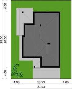 DOM.PL™ - Projekt domu PJK Ka23 ver.1 CE - DOM GW1-27 - gotowy koszt budowy Modern Family House, Bar Chart, House Plans, Utca, How To Plan, Houses, Country Houses, Little Cottages, Homes