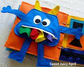 Monster Zipper Mouth Quiet Book Page