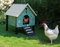 It's called a Dorking Chicken Coop.  There is a triangular, tent-shaped cage that is sold separately.  By Oakdene Coops.(It looks a lot like a dog house with legs to me!)