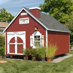 Little Cottage Company Firehouse Kit Playhouse This would not be my first choice - but it would match my house!