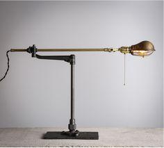 ¥ 480【kc灯具】1893美式古董工业风复古台灯O.C-White复活款浇钢&黄铜-tmall.com天猫