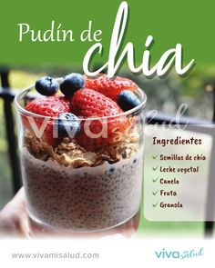 Chia Bowl, Smoothie Bowl, Smoothies, Low Carb Recipes, Vegan Recipes, Snacks Saludables, Skinny Recipes, Healthy Sweets, Desert Recipes