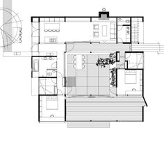 Cabin Lindholm Atrium House, Little Houses, Tiny Houses, Small House Plans, Small Living, Floor Plans, House Design, Flooring, Courtyards
