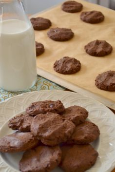 When only chocolate will do.... Chocolate-y Chocolate Chunk Cookies. Decadent and rich, not too sweet, with the perfect amount of chocolate. And grain-free too! | TraditionalCookingSchool.com