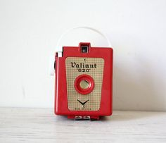 RARE Red Valiant 620 Box Vintage Camera by GallymoggerShoppe, $120.00