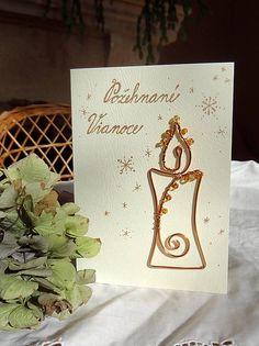 Meryema / vianočná pohľadnica z drôtu...sviečka