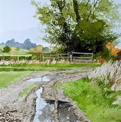 Ian Sidaway (born 1951) - watercolor painting.