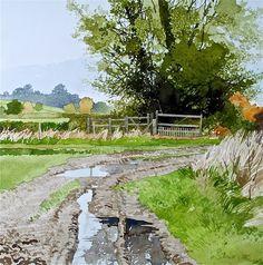 Ian Sidaway (born 1951) - watercolor painting.