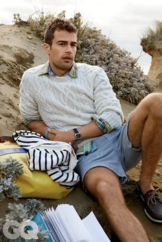Theo James in the Hamptons... What could be more perfect?