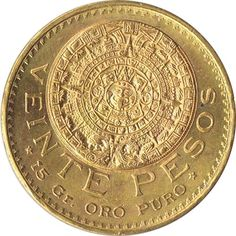 Moneda de oro 20 pesos Mexicanos 1959